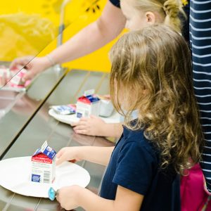 Free Cafeteria Breakfast in Kindergarten
